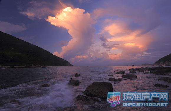 最大的海洋生态自然保护区-大洲岛, 沿途可以看见渔民海上作业捕捞