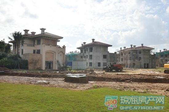 国瑞城别墅区实拍-万宁国瑞城1 4号楼已是现房 5 11号楼建设中